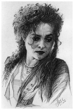 Helena Bonham Carter by FinAngel on DeviantArt  | First pinned to Celebrity Art board here... http://www.pinterest.com/fairbanksgrafix/celebrity-art/ #Drawing #Art #CelebrityArt