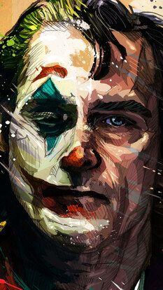 Joker, Joaquin Phoenix, Art, HD Mobile and Desktop wallpaper - Joker 2019 Movie Der Joker, Joker Dc, Joker And Harley Quinn, Gotham Batman, Batman Art, Joker Artwork, Joker Drawings, Joker Poster, Joker Hd Wallpaper