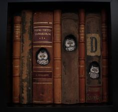 owls (paper clay, old books) Johanna Hulkko