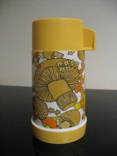 70s mushroom thermos