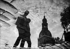 Beautiful reflection of Riga Cathedral.