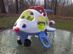 2005 Fisher Price Little People Lil Movers Airplane Voice Music Lights Sound #FisherPrice