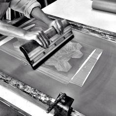 #screenprinting #paper #process #serigrafia #handmade #pattern