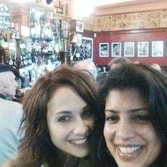 Bonding in London!!!! At a Brit pub :)