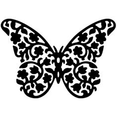Sellos de Serendipity Floral Butterfly Stamp - Cameo, Make-the-Cut files, SVGs, and tutorials Stencils, Stencil Art, Horse Stencil, Bird Stencil, Kirigami, Scroll Saw Patterns, Scroll Design, Silhouette Portrait, Silhouette Cameo Projects