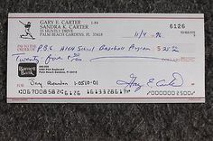 Gary #carter #signed autographed check #baseball mlb hall of famer mets,  View more on the LINK: http://www.zeppy.io/product/gb/2/172016353901/