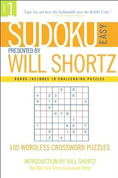Kubo surinkimas rubic cube pinterest cube sudoku easy presented by will shortz volume 1 100 wordless crossword puzzles by will shortz malvernweather Image collections
