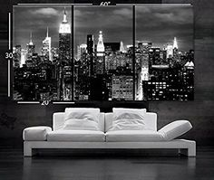 "Black And White Canvas Wall Art xlarge 30""x 70"" 5 panels art canvas print beautiful dallas tx"