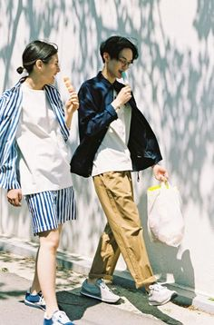 "hasisipark: "" For Roliat 2015 Loobook Lazy Morning and Summer Photography Hasisi Park Model Huh Jae Hyuk and Kim Yong Ji Styling by Bong Tae Gyu "" Summer Photography, Couple Photography, Photography Poses, Fashion Photography, Fashion Couple, Look Fashion, Korean Fashion, Mens Fashion, Street Fashion"