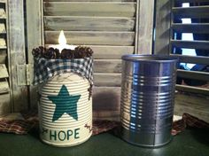 Turn cans into primitive crafts