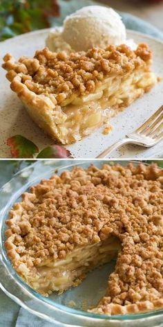 Dutch Apple Pie Homemade Pie Crusts, Pie Crust Recipes, Apple Pie Recipes, Baking Recipes, Dessert Recipes, Dutch Desserts, Homemade Apple Pie Filling, Pie Fillings, Homemade Apple Pies
