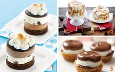 A collection of s'mores desserts for National S'mores Day! (There's lots more desserts on the site).
