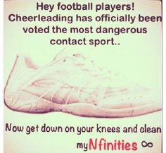 heyy football players....well technically they both are dangerous sooo.....