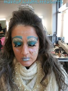 PROJECT: ICE OR FIRE? I chose ice, trying to recreate an icequeen... Didn't take any inspiration for this look, just my fantasy and I'm quite happy as it was the first creative makeup I did when joined the academy :) Like it?
