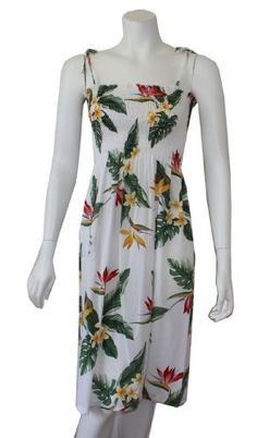 Women's Bird of Paradise Rayon Smocked Hawaiian « Clothing Adds Anytime