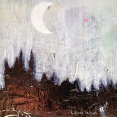 """""""It is a beautiful and delightful sight to behold the body of the Moon"""" -Galileo Galilei {mixed-media art by Kathleen Fitzhugh}"""