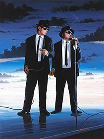 "Blues Brothers in ""pure blues"" Blues Brothers 1980, 1980s Films, Saturday Night Live, Well Dressed Men, Ghostbusters, Music Stuff, Music Artists, Comedians, Pop Art"