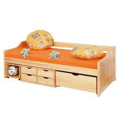 Funktionsbett 160x200  bett mit Schubladen Marx Funktionsbett Kinderbett Sofabett Kiefer ...