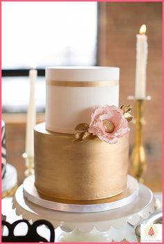Wedding cake by Elysia Root Cakes | Photo Shoot at City View Loft, Chicago…