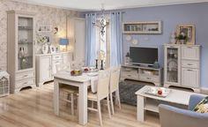 Pokój dzienny TIFFANY, woodline krem  #meble #dom #wnetrza #wystrój #mieszkanie