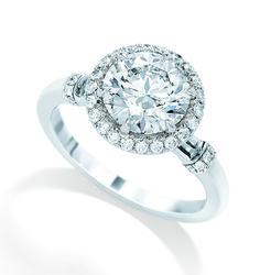 Brinkhaus round brilliant cut diamond ring surrounded by diamonds set in platinum diamond band Bridal Jewellery, Gold Jewellery, Jewelry, Diamond Bands, Diamonds, Luxury, Unique, Rings, Beautiful