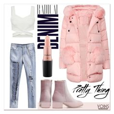 """LOVE PINK x YOINS"" by gigi-lucid ❤ liked on Polyvore featuring Alima, MAC Cosmetics, yoins, yoinscollection and loveyoins"