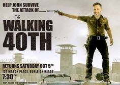 Walking Dead Parody Birthday invitation, Zombie invitation, 40th male birthday…
