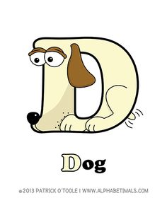 Dog - Alphabetimals make learning the ABC's easier and more fun! http://www.alphabetimals.com