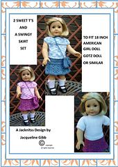 American Girl Doll 2 Sweet T's and a Swingy Skirt Set.