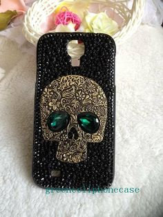 1601b6832bc green eye skull Galaxy Note3 case galaxy s4 by greencellphonecase, $23.99