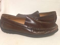 Ecco Men's Brown Leather Extra Wide Loafers Size 11 #ECCO #LoafersSlipOns