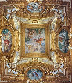 Florence, Palazzo PittiPage 187. Plate 72.  Sala di Saturno: The Heros Death and Apotheosis....ITALIAN FRESCO