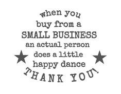 Small Business Thank You Labels Free label template for small business owners and makers to stick on their homemade products. When you buy from a small business, an actual person does a little happy dance. Thank you! Business Labels, Business Stickers, Etsy Business, Craft Business, Family Business, Small Business Quotes, Support Small Business, Free Label Templates, Thank You Labels
