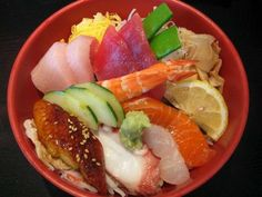 Sushi: a simple chirashi bowl will do it.