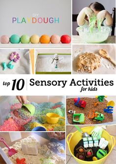 Best Play Dough, Slime & Other Sensory Activities for Kids - Modern Parents Messy Kids Sensory Bins, Sensory Activities, Sensory Play, Infant Activities, Preschool Activities, Sensory Table, Baby Sensory, Time Activities, Toddler Fun