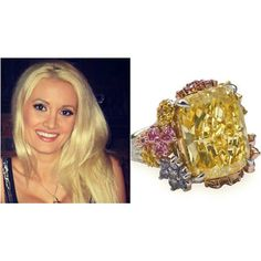Pasquale Rotella called upon designers Layna and Alan Friedman to design this multicolored $2-million 22-carat creation for Holly Madison. The prismatic behemoth may not be everyones taste but were sure she felt like a princess! #hollymadison #beautiful and #amazing #ring ! #gold #engagementring #loveit #vsco #vscocam #follow