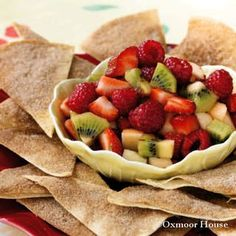 Gooseberry Patch Fruit Salsa with Cinnamon Chips Recipe