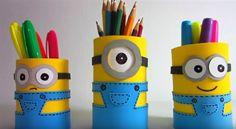 lustiger Minion-Stifthalter für Schulkinder basteln