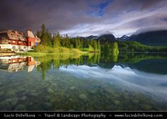 Slovakia - Slovak Republic - Hight Tatras - Vysoke Tatry - Štrbské pleso - Large glacial mountain lake - Very early morning light Exposure Time, Morning Light, Mountain Range, Eastern Europe, Slovenia, Early Morning, Croatia, River, Photography