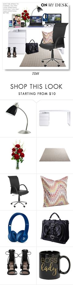 """On My Desk"" by talvadh ❤ liked on Polyvore featuring interior, interiors, interior design, home, home decor, interior decorating, Bellini, Nearly Natural, Beats by Dr. Dre and Zimmermann"