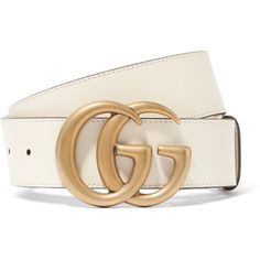Gucci Leather belt (3.890 NOK) ❤ liked on Polyvore featuring accessories, belts, ivory, 100 leather belt, oversized belt, real leather belts, genuine leather belt and leather belts