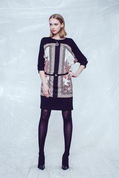 Blouson Print Dress SZ 3915
