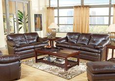 Salinger Brown 5 Pc Living Room