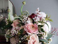 Wedding Ideas: cherry-bouquet-pink-roses