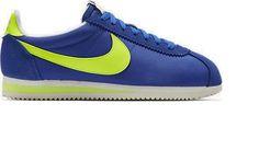 Mens Nike Classic Cortez Nylon AW 844855 470 Navy/yel/White Sizes:UK all sizes #Nike #Trainers