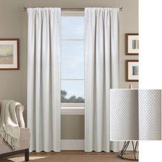 Better Homes and Gardens Textured Woven Room Darkening Window Panel, White