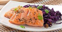 Recette de Saumon sauvage sur lit de chou rouge à l'irlandaise. Facile et rapide à réaliser, goûteuse et diététique.