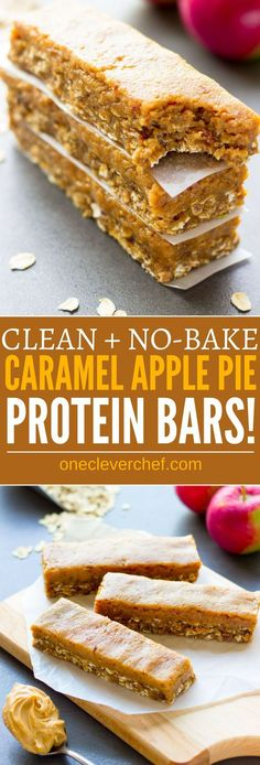 These delicious no-bake protein bars are a must-try fall season treat. Easy to make and super healthy, they taste like your grandma's caramel apple pie, without the calories, refined-sugar and all the bad stuff. Raw, entirely gluten-free, vegan, dairy-fre