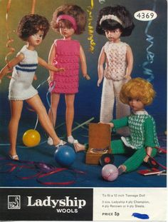 Vintage Knitting Pattern Fashion Doll Barbie Clothes for Girl Doll in yarn knit pattern instant Sewing Barbie Clothes, Knitting Dolls Clothes, Barbie Clothes Patterns, Crochet Clothes, Clothing Patterns, Crochet Hats, Barbie Knitting Patterns, Skirt Patterns Sewing, Doll Patterns