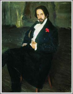 Boris Mikhailovich Kustodiev (1878-1927), Portrait du Peintre Ivan Bilibin - 1901 Russian Art, Painter, Painting, Painting Prints, Artwork, Meet The Artist, Portrait, Ivan Bilibin, Art World